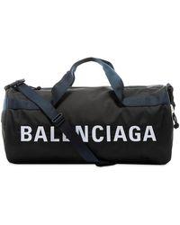 Balenciaga Logo Gym Bag - Black