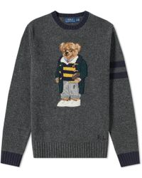 2f662003208b Lyst - Polo Ralph Lauren Teddy Bear Knitted Jumper in Blue for Men ...