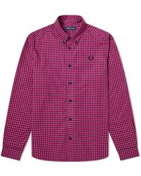 Fred Perry - Fred Perry Two Tone Gingham Shirt - Lyst