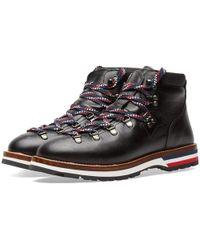 Moncler Peak Leather Hiking Boot - Black