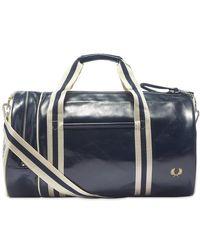 Fred Perry Classic Barrel Bag - Blue