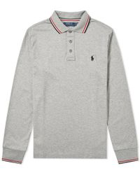Polo Ralph Lauren - Long Sleeve Rwb Tipped Polo - Lyst