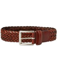 Andersons Anderson's Woven Leather Belt - Brown