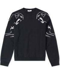 Valentino - Panther Souvenir Crew Knit - Lyst