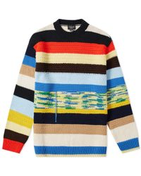 CALVIN KLEIN 205W39NYC Men's Oversized Multi-stripe Jumper - Multicolour