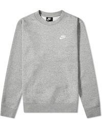 Nike Club Crew Sweat - Gray