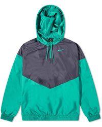 Nike Shield Half Zip Jacket - Green