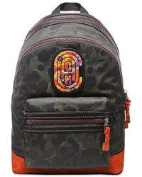 COACH X Kaffe Fassett Wild Beast Patch Backpack - Green