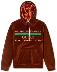 Gucci Chenille Embroidered Popover Hoody - Brown
