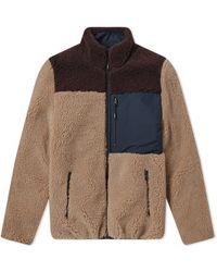 KENZO Shearling Down Jacket - Brown