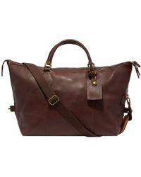 Barbour Leather Medium Travel Explorer - Brown