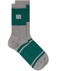 Acne Studios Face Rib Sock - Gray