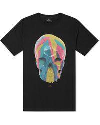 Paul Smith - Ps By Skull Logo T Shirt Black - Lyst