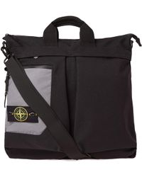 Stone Island - Reflective Panel Two Way Tote - Lyst