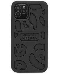 Alexander McQueen Rubber Iphone 11 Max Case - Black