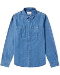 Albam - Chambray Heaney Pocket Shirt - Lyst