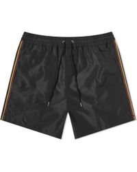 Paul Smith Classic Side Stripe Swimshort - Black