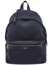 Saint Laurent Canvas City Backpack - Blue