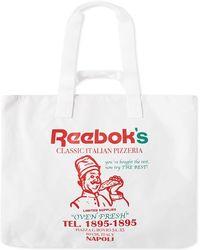 Reebok Pizza Tote Bag - White