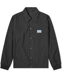 Liam Hodges Crinkle Branded Coach Jacket - Black