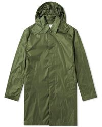 Mackintosh Nylon Hooded Short Mac - Green