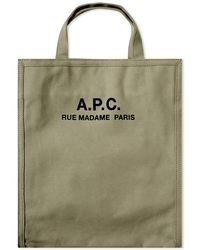 A.P.C. Recuperation Heavy Canvas Tote Bag - Green