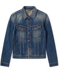 Nudie Jeans - Nudie Billy Dark Authentic Denim Jacket - Lyst