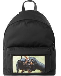 Givenchy Rottweiler Print Backpack - Black
