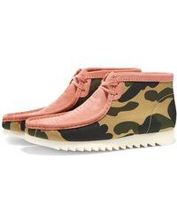 Clarks X A Bathing Ape Wallabee Boot - Pink