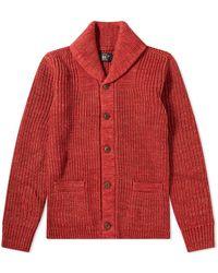RRL Shawl Collar Cardigan - Red