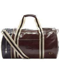 Fred Perry Colour Block Classic Barrel Bag - Multicolour
