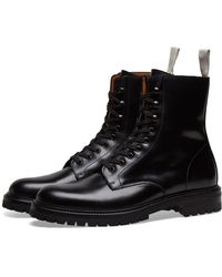 Common Projects Lug Sole Combat Boot - Black