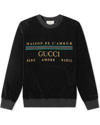 Gucci Chenille Embroidered Crew Sweat - Black