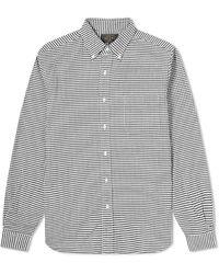 Beams Plus Gingham Check Shirt - Black