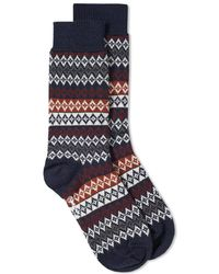 Barbour - Duxbury Fair Isle Sock - Lyst