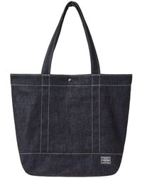 Head Porter Denim Tote Bag - Blue