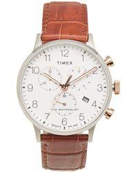 Timex - Waterbury Classic Chronograph Watch - Lyst