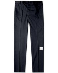 Thom Browne Unconstructed Twill Logo Chino - Blue