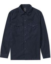 Save Khaki - Twill Fatigue Overshirt - Lyst