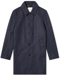 Mackintosh Dunoon Wool Car Coat - Blue