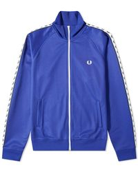 Fred Perry Taped Track Jacket - Blue