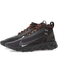Nike React Runner Mid Wr Ispa Shoes - Size 7 - Black