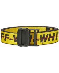 Off-White c/o Virgil Abloh - Yellow Industrial Logo Belt - Lyst