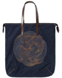 Dries Van Noten - Embroidered Denim Shopper - Lyst