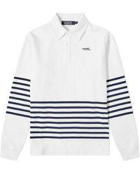 BBCICECREAM Striped Rugby Shirt - White