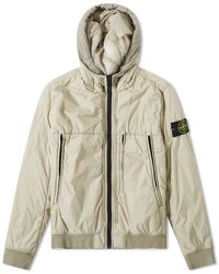 Stone Island - Garment Dyed Crinkle Reps Ny Piping Hooded Jacket - Lyst