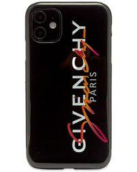Givenchy Rainbow Signature Logo Iphone 11 Case - Black