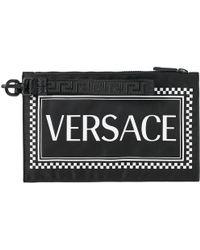 Versace Box Logo Zip Pouch - Black