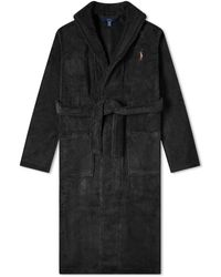 Polo Ralph Lauren Shawl Collar Robe - Black