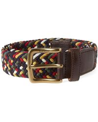Barbour - Woven Stretch Belt - Lyst